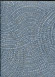 Toscani Wallpaper Pave Blue/Copper  35674 By Holden Decor For Colemans
